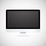 Απομονωμένη άσπρη επίδειξη υπολογιστών Στοκ Εικόνες