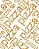 απομονωμένη άσπρη λέξη πιτσών Στοκ εικόνα με δικαίωμα ελεύθερης χρήσης