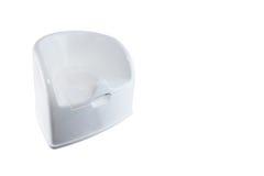 Απομονωμένη άσπρη τουαλέτα ασήμαντη στο άσπρο υπόβαθρο Στοκ φωτογραφία με δικαίωμα ελεύθερης χρήσης