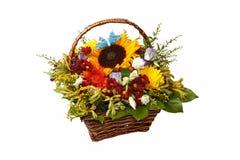 Απομονωμένη δέσμη των λουλουδιών στοκ εικόνες