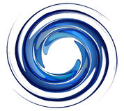 Απομονωμένη δίνη νερού στοκ εικόνα με δικαίωμα ελεύθερης χρήσης
