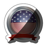 Απομονωμένη αμερικανική σημαία μέσα στο σχέδιο κουμπιών Στοκ Φωτογραφία