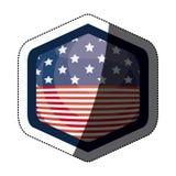 Απομονωμένη αμερικανική σημαία μέσα στο σχέδιο πλαισίων Στοκ Εικόνα