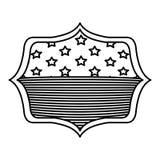Απομονωμένη αμερικανική σημαία μέσα στο σχέδιο πλαισίων Στοκ εικόνα με δικαίωμα ελεύθερης χρήσης