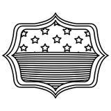 Απομονωμένη αμερικανική σημαία μέσα στο σχέδιο πλαισίων Στοκ εικόνες με δικαίωμα ελεύθερης χρήσης