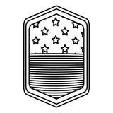 Απομονωμένη αμερικανική σημαία μέσα στο σχέδιο πλαισίων Στοκ Φωτογραφίες