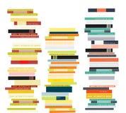 απομονωμένη βιβλία στοίβα σειράς Επίπεδη απεικόνιση ύφους Στοκ Εικόνα