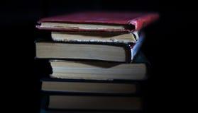 απομονωμένη βιβλία στοίβα σειράς Στοκ Φωτογραφία