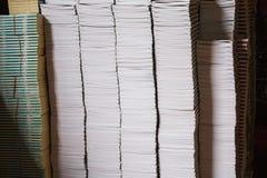 απομονωμένη βιβλία στοίβα σειράς Στοκ Φωτογραφίες