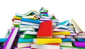 απομονωμένη βιβλία στοίβα σειράς διανυσματική απεικόνιση