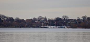 Απομονωμένη εικόνα με μια άποψη σχετικά με το λιμάνι Στοκ εικόνα με δικαίωμα ελεύθερης χρήσης