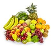 Απομονωμένη επίδειξη των φρέσκων υγιών τροπικών φρούτων Στοκ φωτογραφίες με δικαίωμα ελεύθερης χρήσης