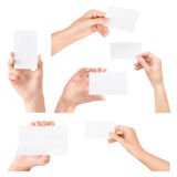 Απομονωμένη επαγγελματικών καρτών στη διάθεση σύνολο Στοκ φωτογραφία με δικαίωμα ελεύθερης χρήσης