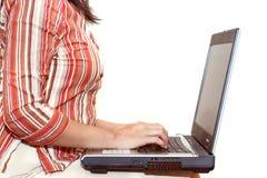 απομονωμένη εργασία γυναικών Στοκ εικόνες με δικαίωμα ελεύθερης χρήσης