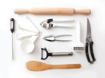 Απομονωμένη ζωή σκευών για την κουζίνα ακόμα Στοκ Εικόνες
