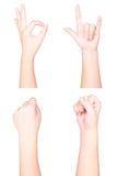 Απομονωμένη θέση χεριών στοκ εικόνες με δικαίωμα ελεύθερης χρήσης