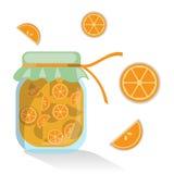 Απομονωμένη διάνυσμα πορτοκαλιά μαρμελάδα Στοκ Εικόνες