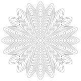 Απομονωμένη διακόσμηση λουλουδιών ή mandala για το χρωματισμό ελεύθερη απεικόνιση δικαιώματος
