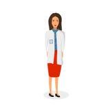 Απομονωμένη διανυσματική απεικόνιση ιατρών Στοκ εικόνες με δικαίωμα ελεύθερης χρήσης