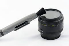Απομονωμένη καθαρίζοντας εξάρτηση φακών Στοκ φωτογραφία με δικαίωμα ελεύθερης χρήσης