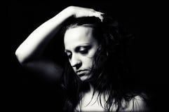 απομονωμένη κατάθλιψη λευκή γυναίκα στοκ εικόνες