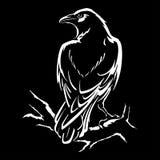Απομονωμένη κοράκι διανυσματική απεικόνιση Στοκ Εικόνα