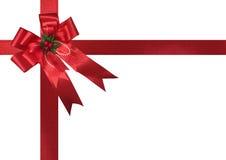 Απομονωμένη κορδέλλα Χριστουγέννων Στοκ Εικόνα