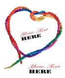 Απομονωμένη κόκκινη κορδέλλα καρδιών Στοκ εικόνες με δικαίωμα ελεύθερης χρήσης