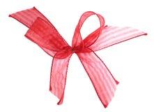 απομονωμένη κόκκινη κορδέλλα Στοκ Φωτογραφίες