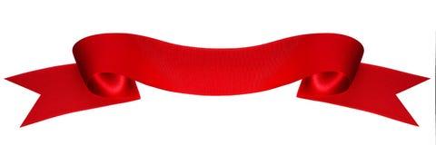 απομονωμένη κόκκινη κορδέλλα Στοκ εικόνες με δικαίωμα ελεύθερης χρήσης