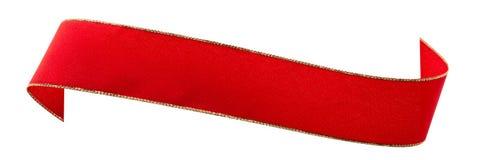 απομονωμένη κόκκινη κορδέλλα Στοκ φωτογραφία με δικαίωμα ελεύθερης χρήσης