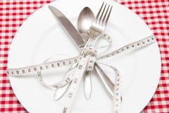 απομονωμένη λευκή γυναίκα βάρους κορμών μέτρου απώλειας Στοκ Εικόνα