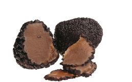 Απομονωμένη μαύρη τρούφα - συστατικό πολυτέλειας στοκ εικόνες