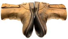 Απομονωμένη μπότα δέρματος μηχανικών όρφνωσης Στοκ Εικόνες