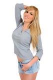 Απομονωμένη νέα γυναίκα Στοκ φωτογραφία με δικαίωμα ελεύθερης χρήσης