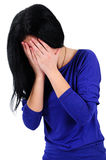 Απομονωμένη περιστασιακή γυναίκα Στοκ Εικόνα