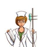 Απομονωμένη νοσοκόμα κινούμενων σχεδίων διανυσματική απεικόνιση