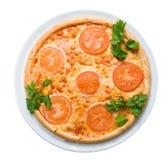 απομονωμένη ντομάτα πιτσών Στοκ φωτογραφία με δικαίωμα ελεύθερης χρήσης
