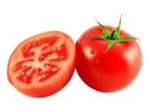 απομονωμένη ντομάτα φετών στοκ εικόνα