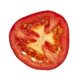 απομονωμένη ντομάτα φετών Στοκ Εικόνες