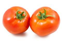 απομονωμένη ντομάτα δύο λευκό Στοκ εικόνα με δικαίωμα ελεύθερης χρήσης