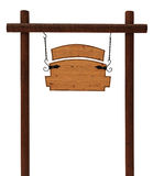 Απομονωμένη ξύλινη πινακίδα Στοκ Εικόνα
