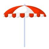 Απομονωμένη ομπρέλα απεικόνιση παραλιών ελεύθερη απεικόνιση δικαιώματος