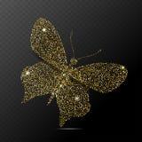 Απομονωμένη πεταλούδα διανυσματική απεικόνιση Στοκ εικόνα με δικαίωμα ελεύθερης χρήσης