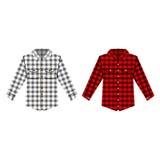 Απομονωμένη πουκάμισο διανυσματική απεικόνιση Cheskered Στοκ φωτογραφίες με δικαίωμα ελεύθερης χρήσης