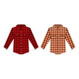 Απομονωμένη πουκάμισο διανυσματική απεικόνιση Cheskered Στοκ Φωτογραφίες