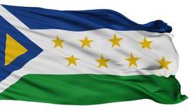 Απομονωμένη σημαία πόλεων Grecia, Κόστα Ρίκα απόθεμα βίντεο