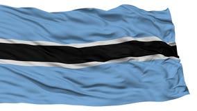 Απομονωμένη σημαία της Μποτσουάνα Στοκ φωτογραφία με δικαίωμα ελεύθερης χρήσης