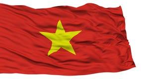 Απομονωμένη σημαία του Βιετνάμ Στοκ Φωτογραφίες