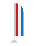 Απομονωμένη σημαία Netherland Στοκ εικόνες με δικαίωμα ελεύθερης χρήσης